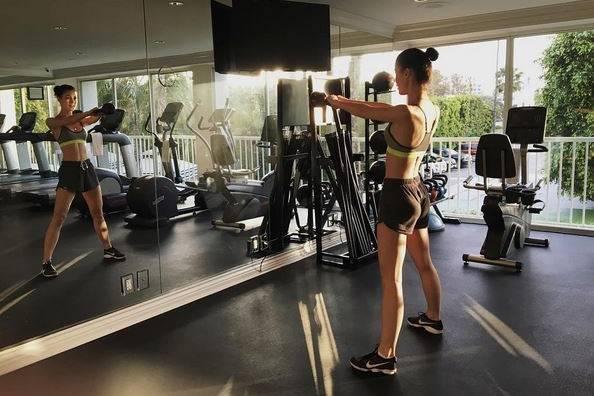 Lena Meyer-Landrut beim Sport in LA