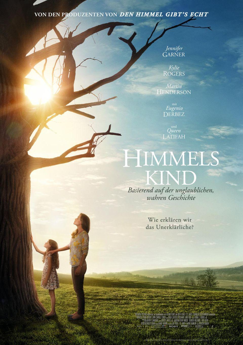 """""""Himmelskind"""" (ab 09. Juni im Kino) basiert auf dem Schicksal der neunjährigen Annabel Beam (gespielt von Kylie Rogers), die nach einem Sturz von einer Pappel plötzlich geheilt ist."""