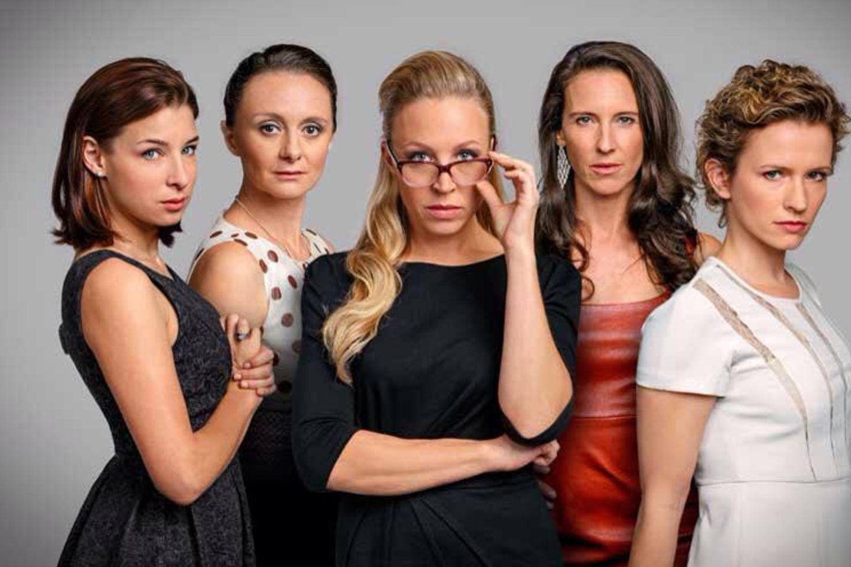"""""""Vorstadtweiber""""-Darstellerinnen Martina Ebm, Gertie Drassl und Nina Proll"""