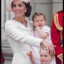 Herzogin Catherine mit Prinzessin Charlotte und Prinz George