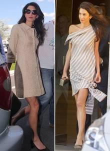 Amal Clooney in Vintage Balenciaga (links) und Muse