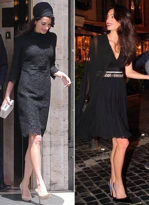 Ebenfalls im Kleiderschrank von Staranwältin Amal Clooney: Atelier Versace (links) und Giambattista Valli