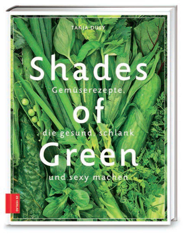"""Kochbuchautorin Tanja Dusy setzt auf """"Green Cooking"""". In ihrem neuen Werk enthüllt sie, wie vielseitig die Farbe Grün sein kann: Süßkartoffel-Wraps mit Rucola und Kokos-Pancakes mit grünem Sirup sind darüber hinaus noch echte Meister der Verführung. (""""Shades of Green"""", Zabert Sandmann Verlag, 160 S., 18,99 Euro)"""