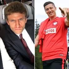 Thomas Müller und Robert Lewandowski: Die Fußball-Giganten im privaten Vergleich