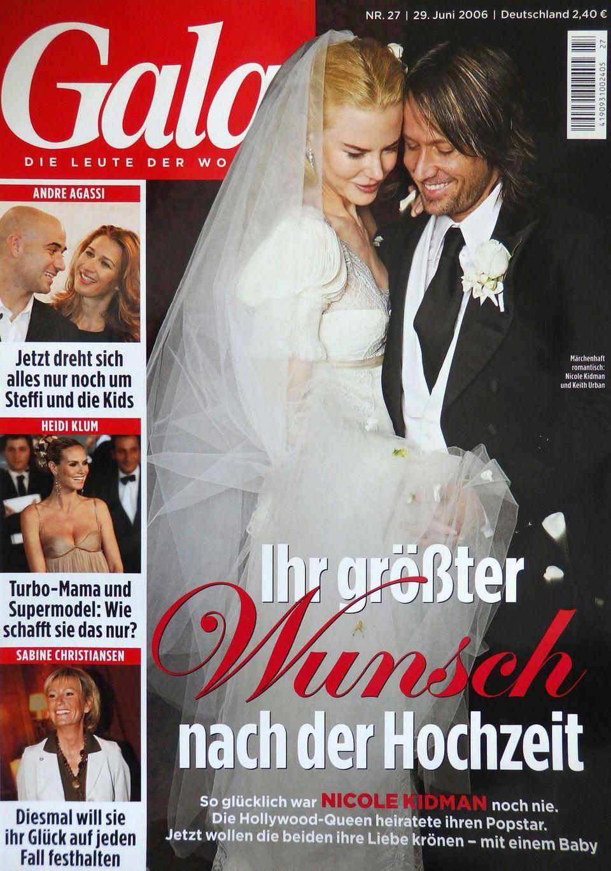 Big news: das GALA-Cover zur Hochzeit am 25. Juni 2006.