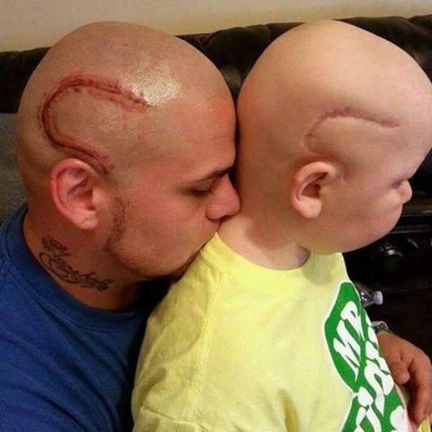 Josh Marshall und sein Sohn Gabriel