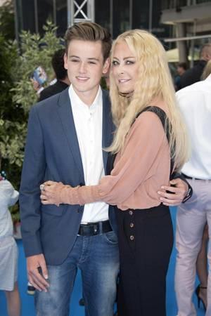 Jenns Elvers und ihr Sohn Paul 2016