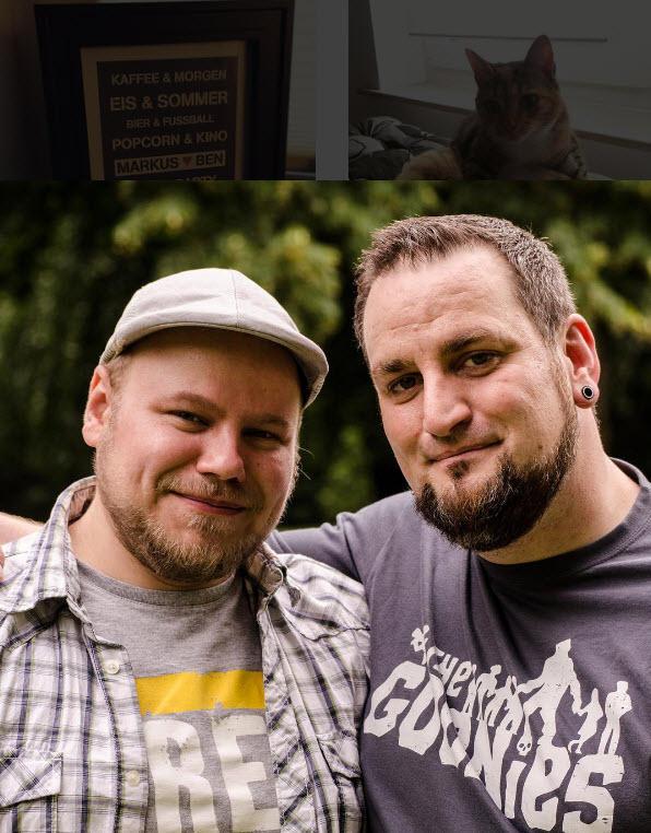 Markus Grimm und sein Mann Ben