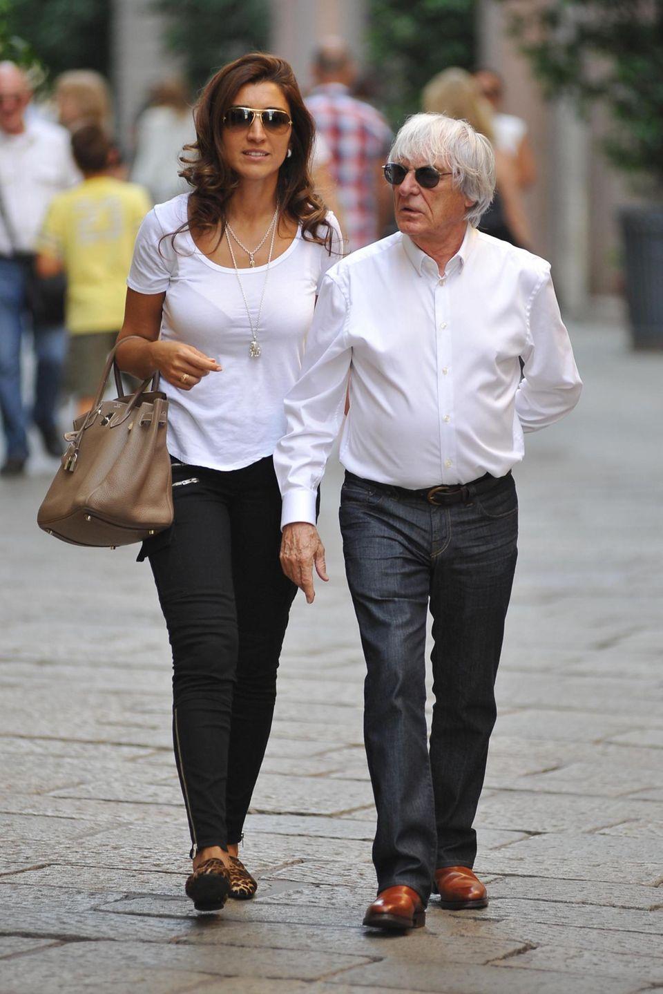 Bernie Ecclestone mit Ehefrau Fabiana Flosi