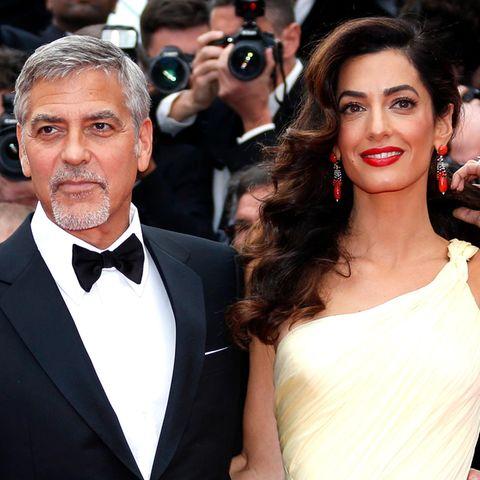 Amar und George Clooney.