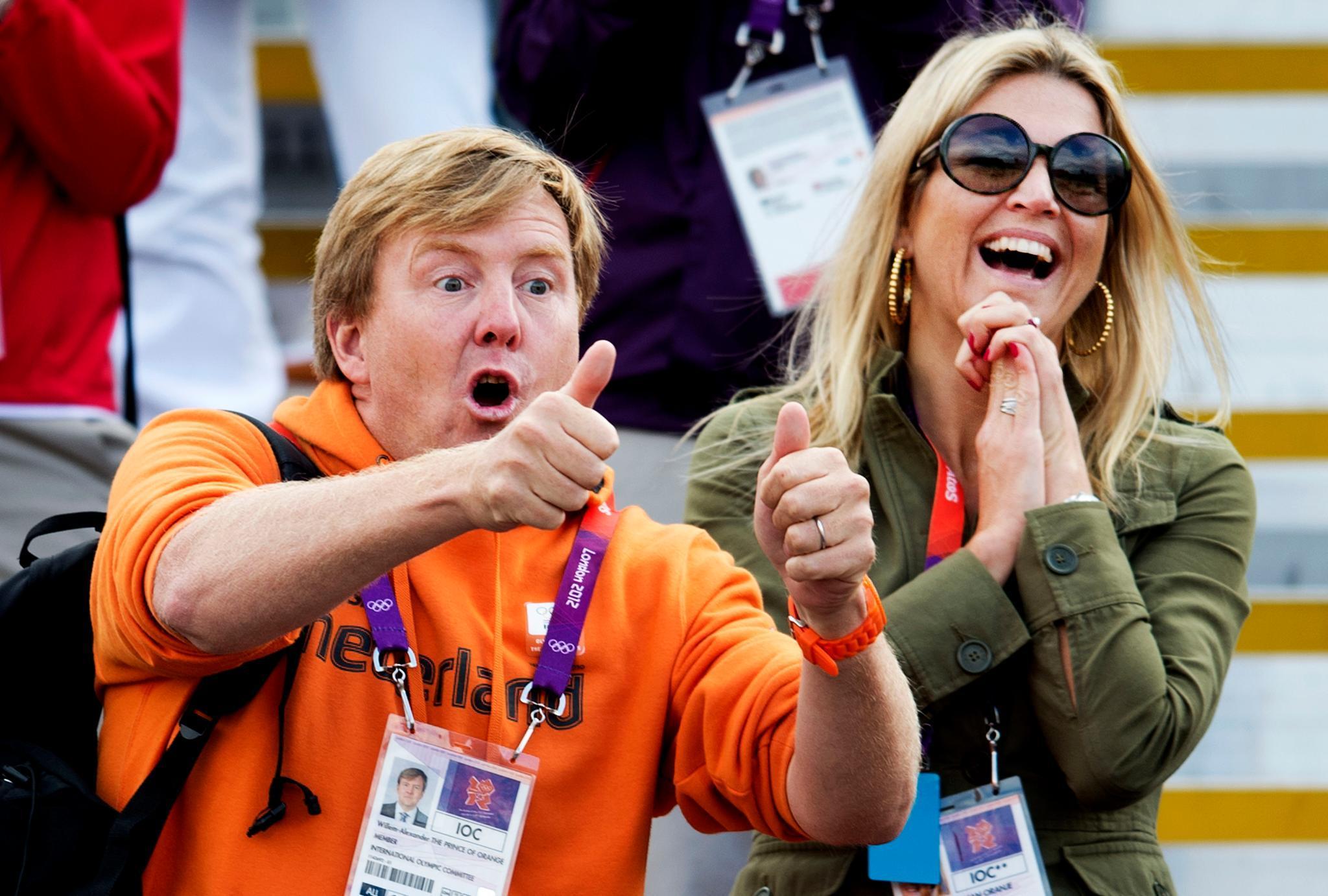 So schön jubelten König Willem-Alexander und Königin Máxima 2012 gemeinsam bei den Olympischen Spielen in London.