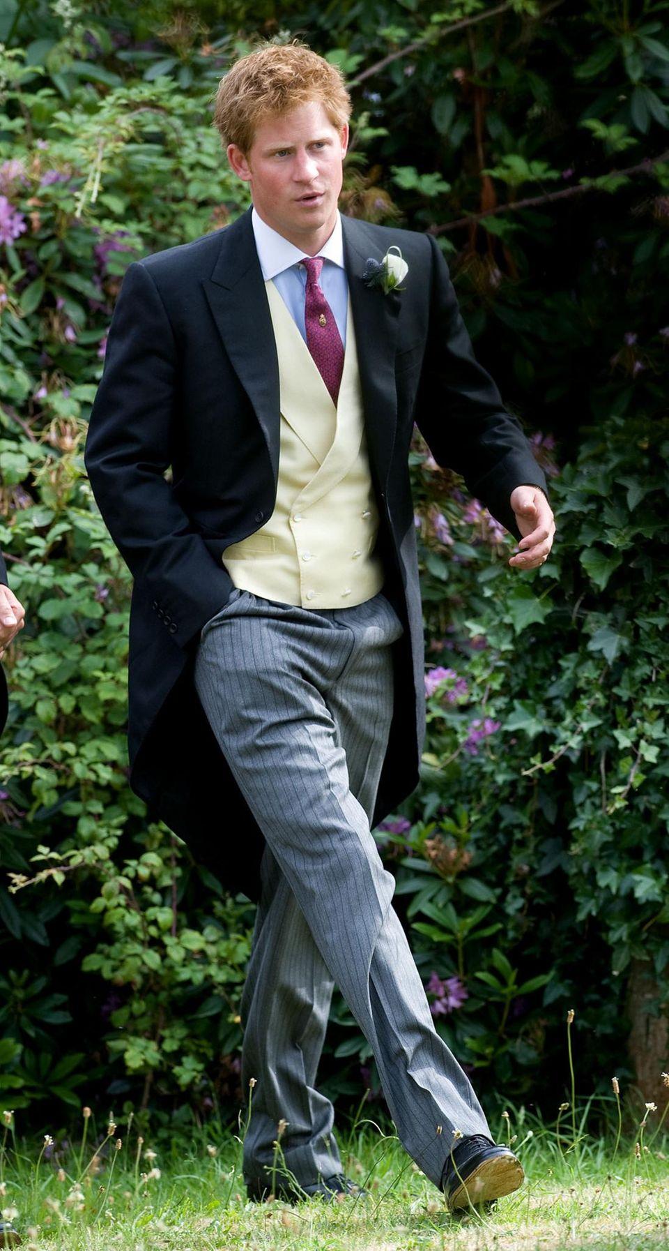 Prinz Harry auf Dyers Hochzeit 2010