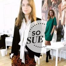 GALA-Kolumnistin Sue Giers + Model
