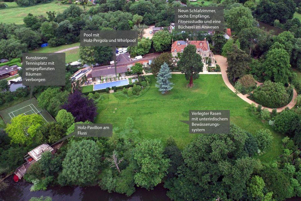 Das luxuriöse Clooney-Anwesen im englischen Sonning
