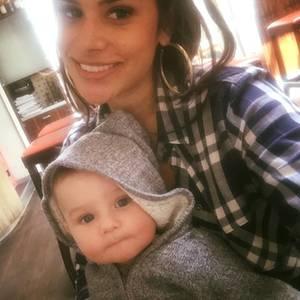 Tanja Tischewitsch und Baby Ben