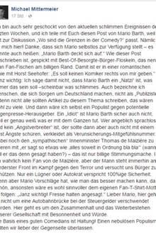 Michael MIttermeier kritisiert Mario Barth mit deutlichen Worten.