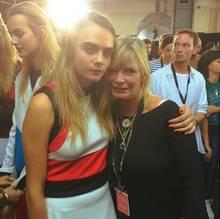 Cara Delevingne mit ihrer Mama Pandora Delevingne