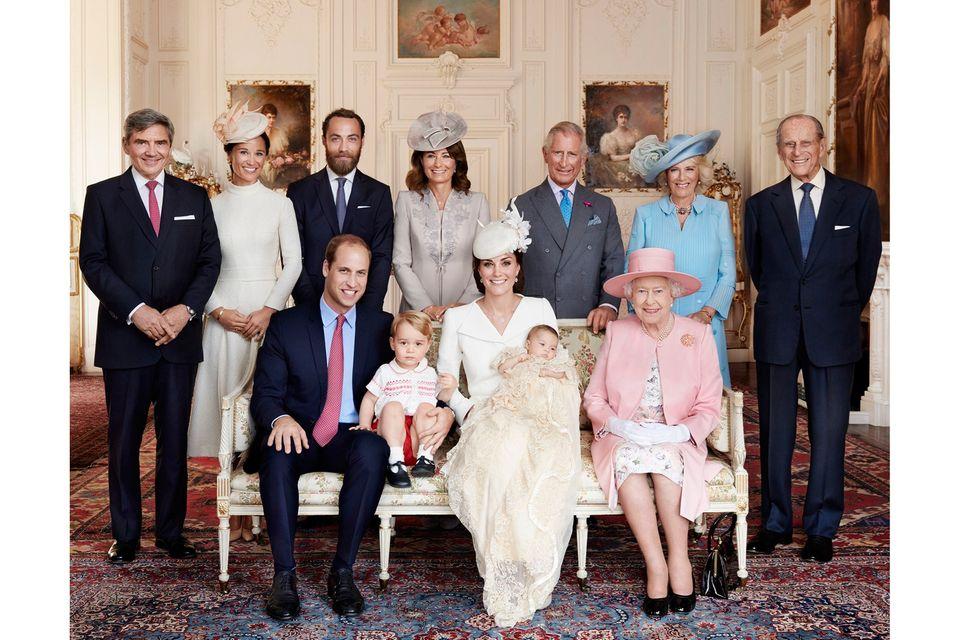 Die Royal-Family bei der Taufe von Prinzessin Charlotte