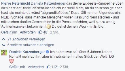 Daniela Katzenberger bleibt gelassen.