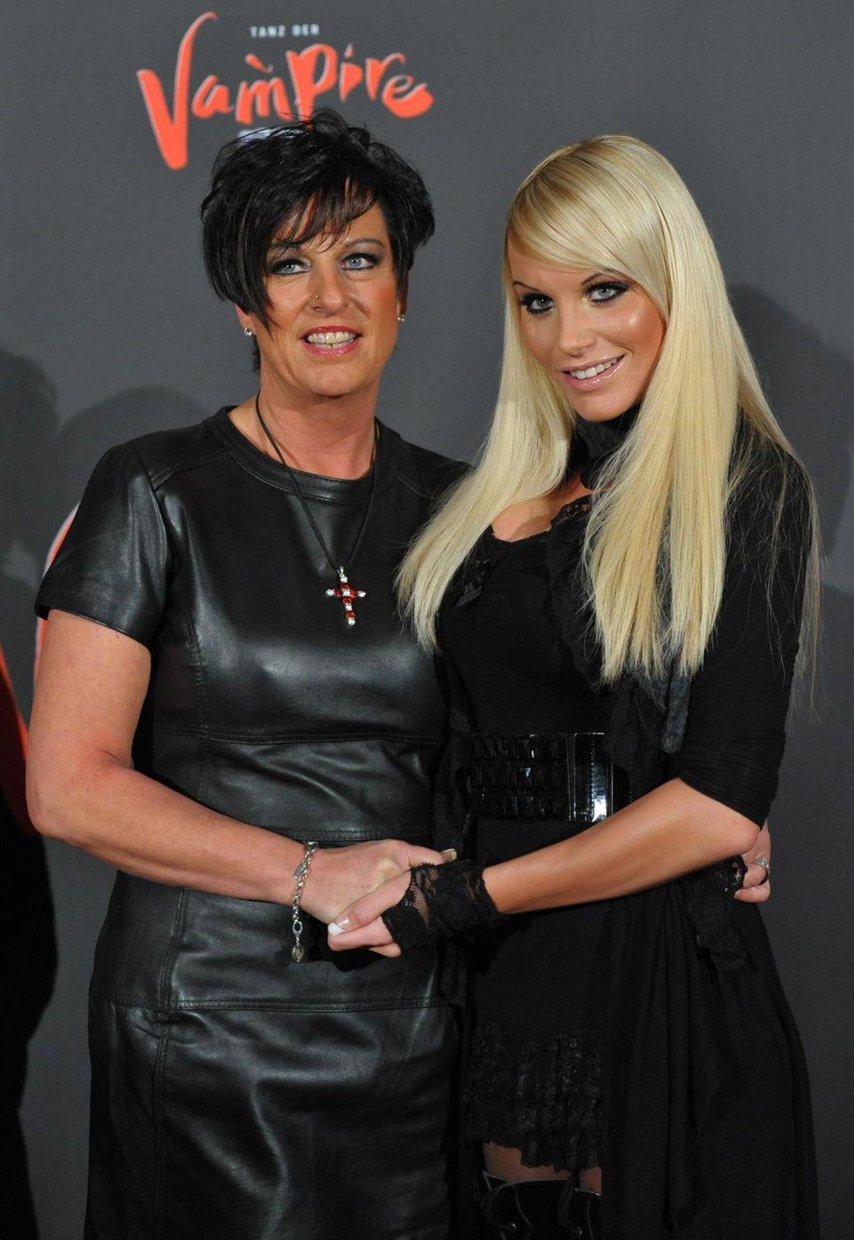 Gina-Lisa Lohfink mit ihrer Mutter Petra Meyer