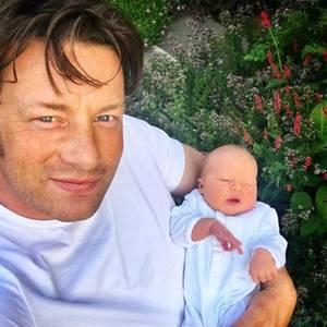 Jamie Oliver + sein jüngster Sohn
