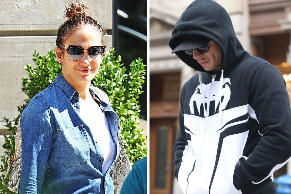 Jennifer Lopez und Casper Smart in New York - die eine lacht, der andere ist traurig