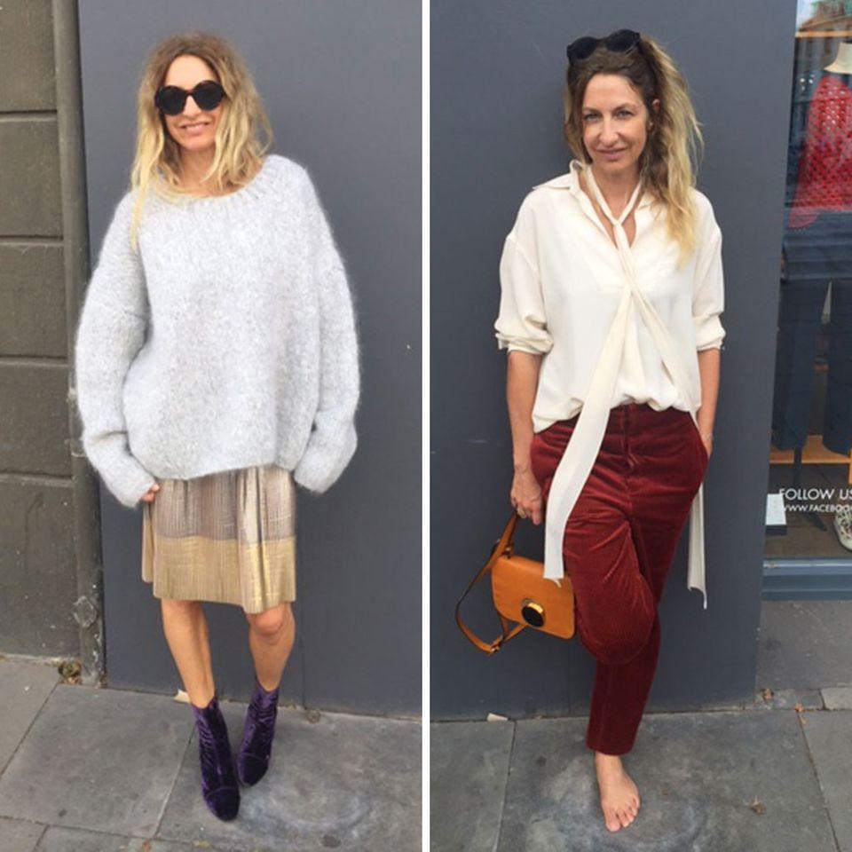 Trendy und zeitlos ist die aktuelle Rocklänge bis zum Knie. Und so trägt GALA-Kolumnistin Sue ihre Breitcordhose. Der Modeherbst 2016 kann kommen!