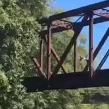 Vierjähriger Junge wird von einer Brücke geworfen