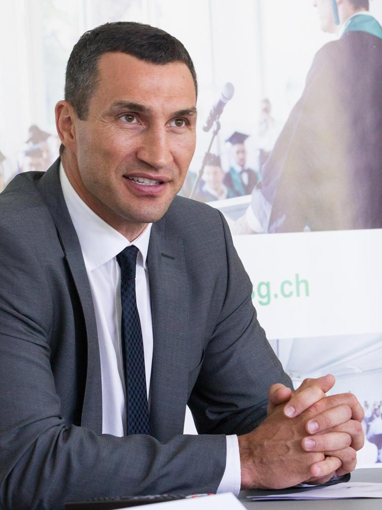 """Promovierter Profi: Wladimir Klitschko schrieb seine Doktorarbeit über """"pädagogische Kontrolle im Sport"""""""