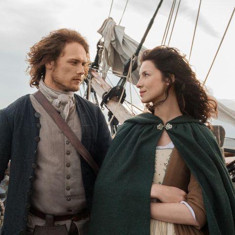 Jamie (Sam Heughan) + Claire (Caitriona Balfe)
