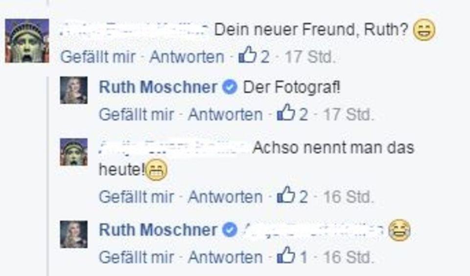 Ruth Moschner reagiert ausweichend.