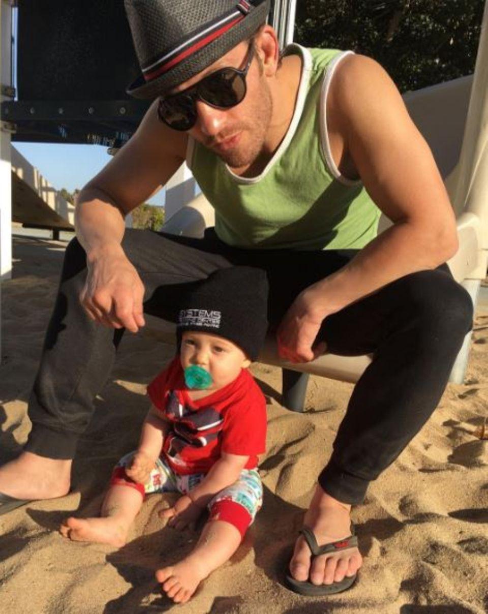 Marcus Kowal: Ein Herz und eine Seele: Marcus Kowal und Sohn Liam.