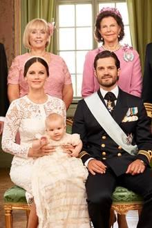 Prinz Alexander, Taufbild mit Eltern + Großeltern