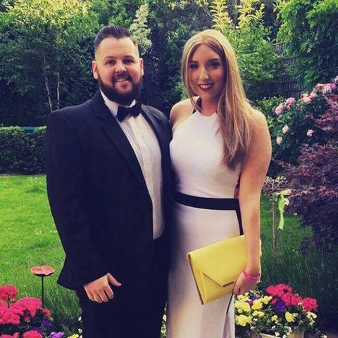 Anna Swabey mit ihrem Verlobten Andy Bell