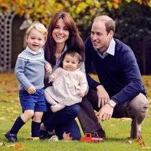 Prinz George und Prinzessin Charlotte mit ihren Eltern William und Catherine