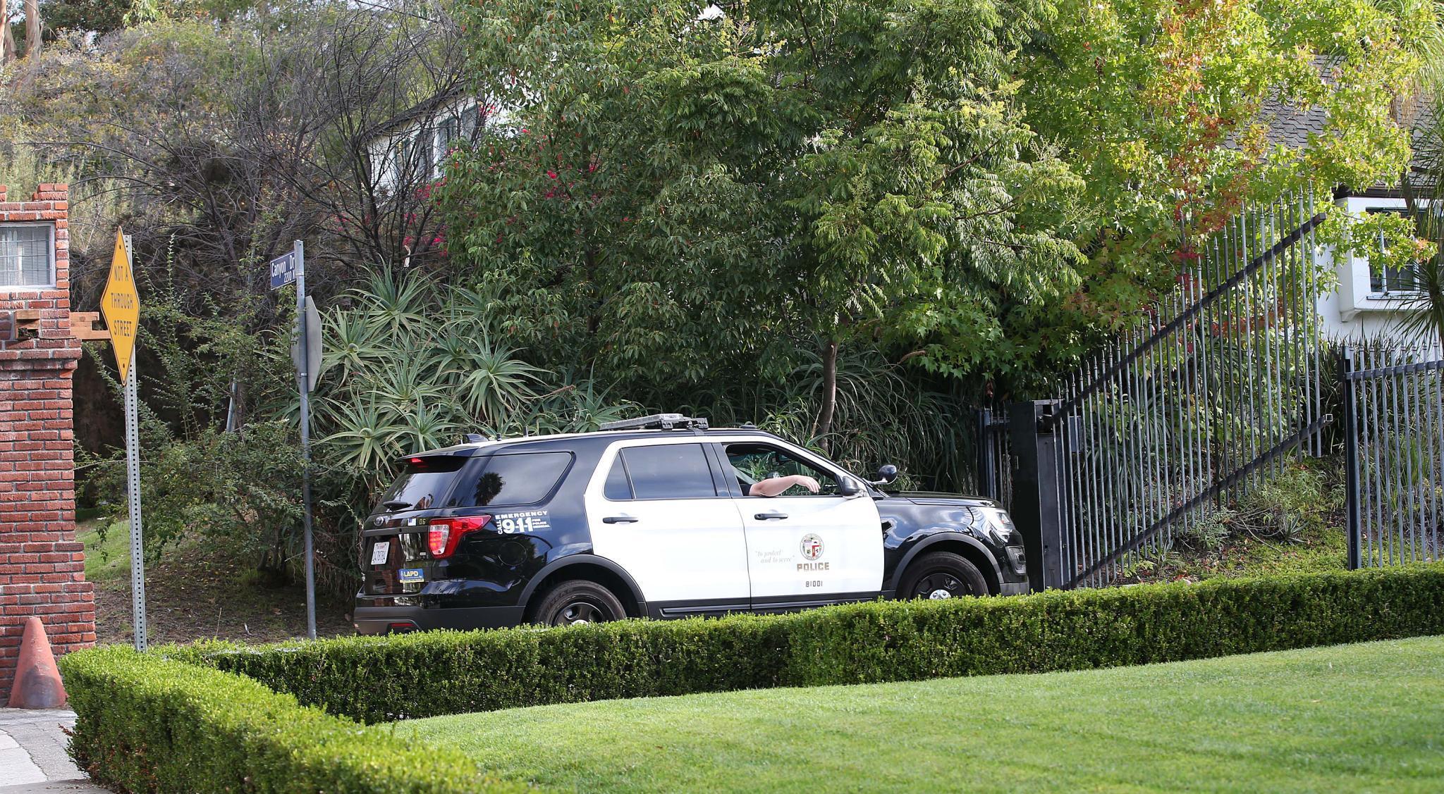 Die Polizei fährt auf das Brangelina-Anwesen in Hollywood, ist jedoch offenbar nicht zuständig.