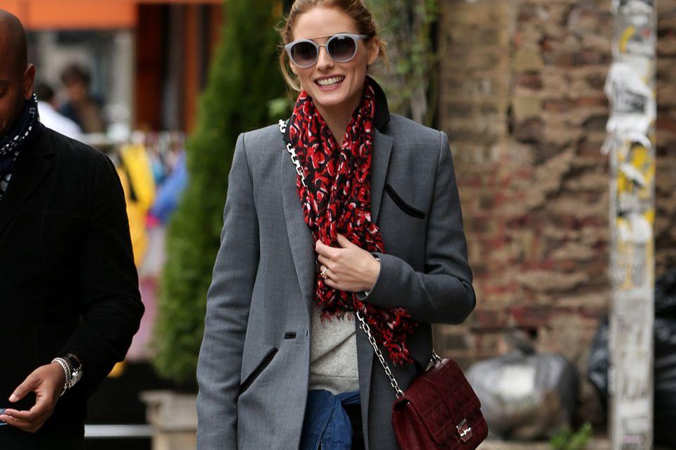 Fashion-Ikone Olivia Palermo beherrscht den angesagten Stil-Mix perfekt.