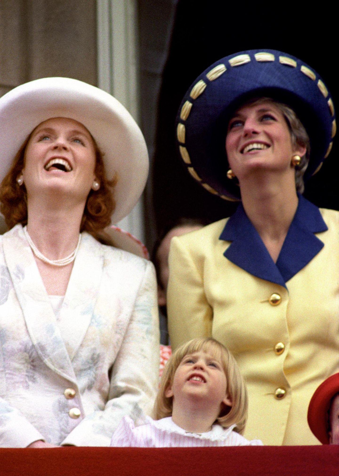 Sarah Ferguson + Prinzessin Diana (Archiv 1991)