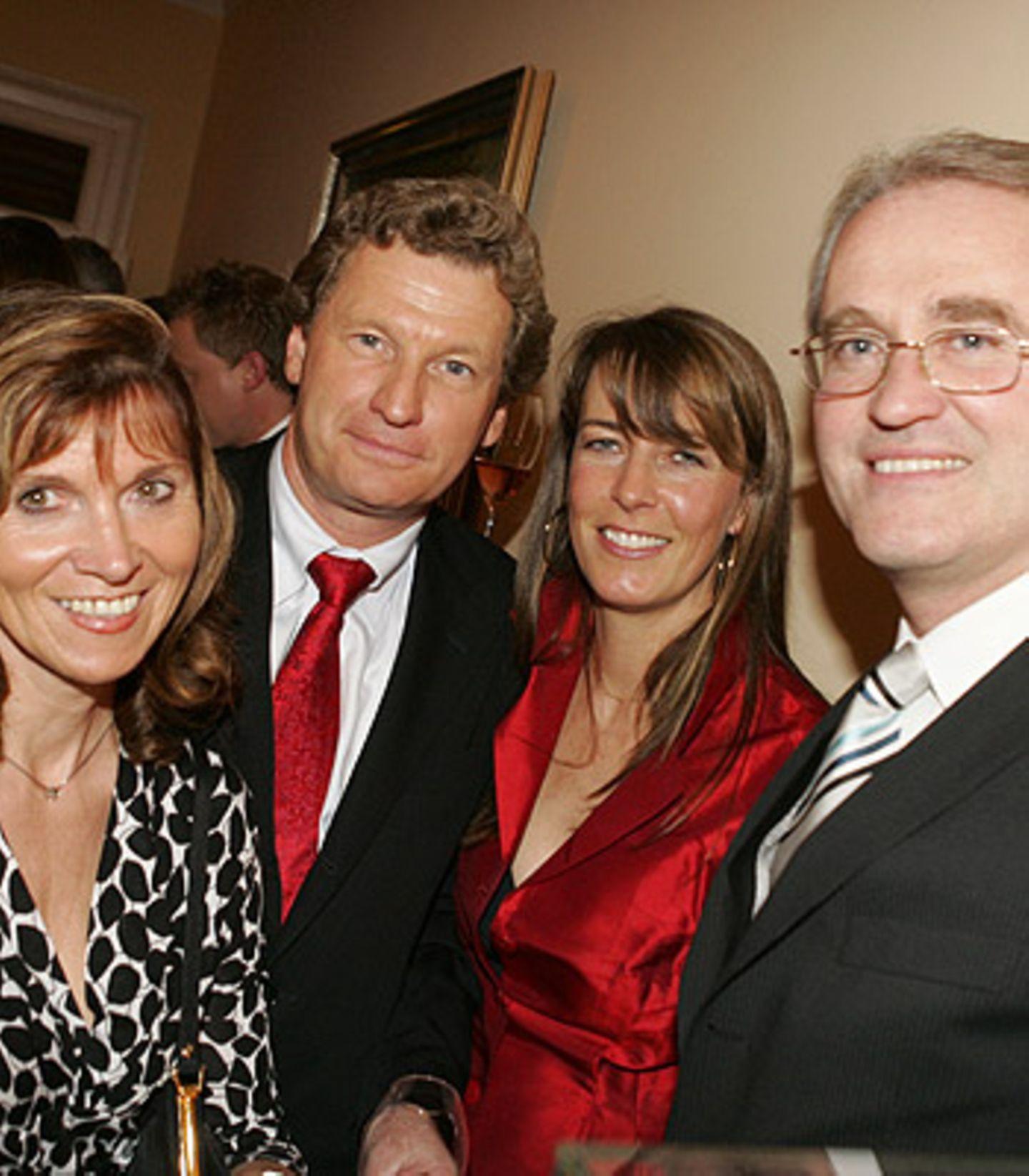 Bernd Buchholz und Ehefrau Inga Jensen-Buchholz und Bernd Kundrun mit Ehefrau Viola