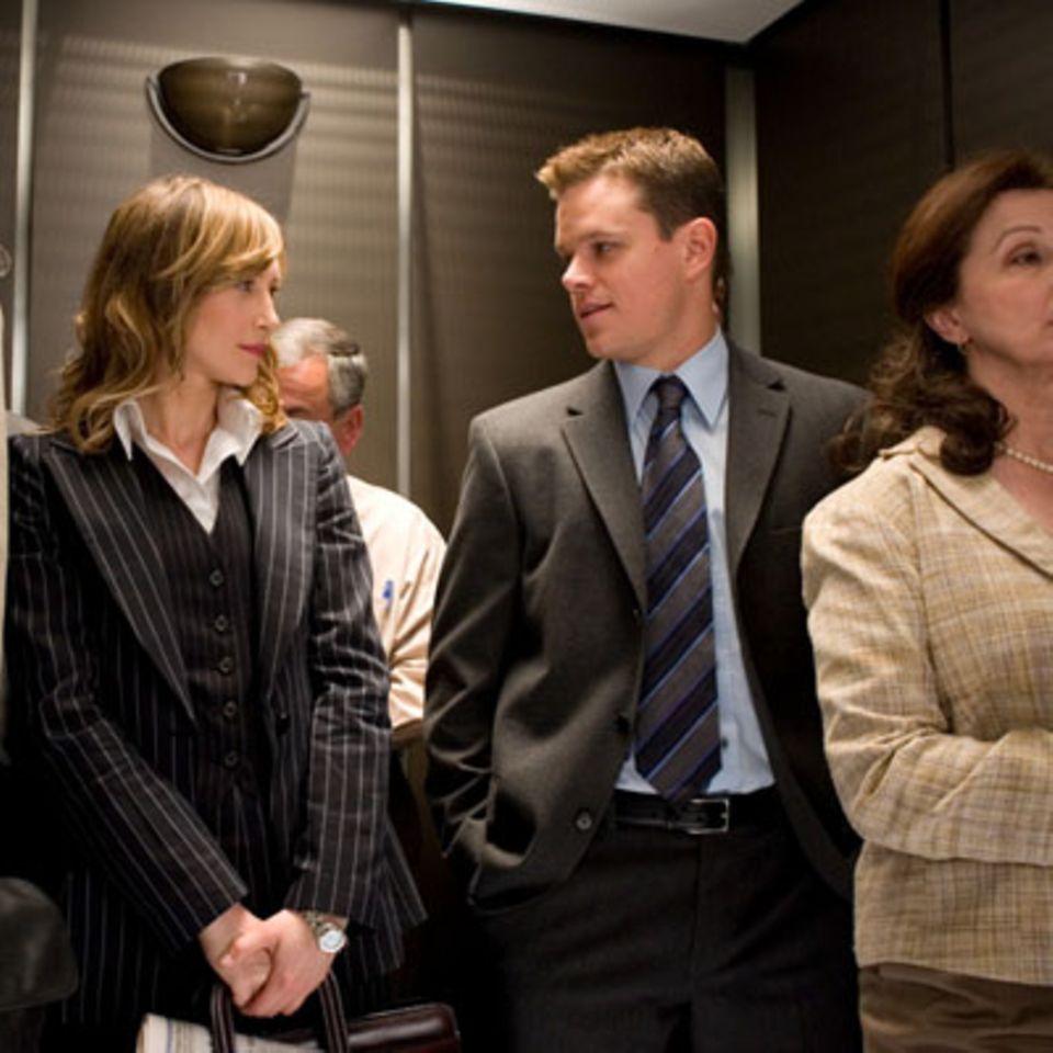 Szenenbild aus Departed - Unter Feinden, Vera Farmiga und Matt Damon