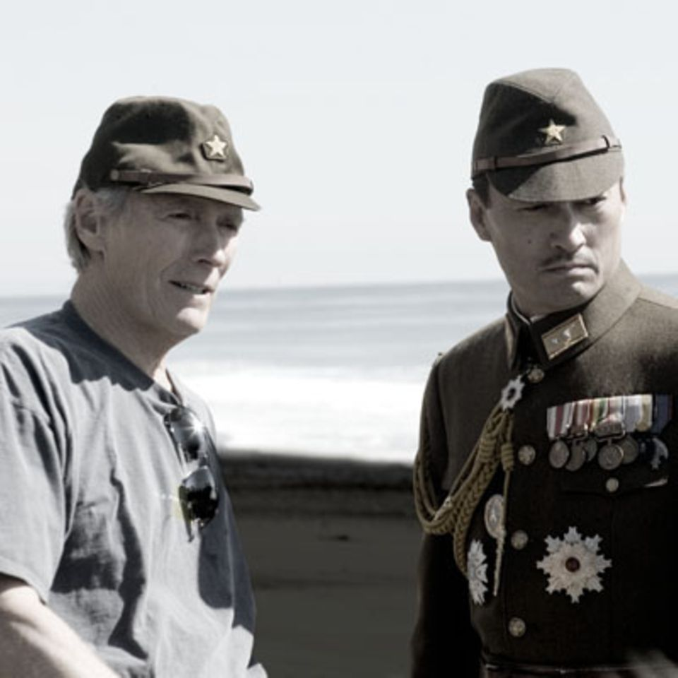 Regisseur Clint Eastwood und Ken Watanabe
