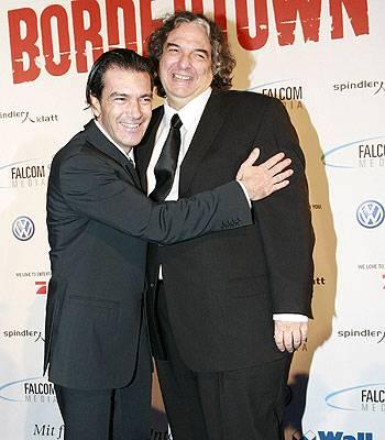 Antonio Banderas und Gregory Nava