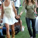 Cameron Diaz und Drew Barrymore beim Coachella-Festival 2007.