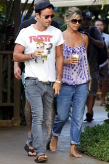 Justin theroux und Jennifer Aniston beim Liebesurlaub auf Hawai