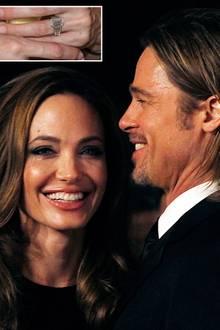 Angelina Jolie und Brad Pitt: Viele Fans waren überrascht, als das Hollywood-Traumpaar seine Verlobung bekannt gab. Den Ring, de