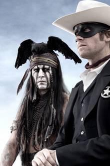 """9. März 2012: In dem neuen Jerry Bruckheimer Film """"The Lone Ranger"""" spielen  Johnny Depp und Armie Hammer die Hauptrollen."""