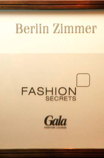 Das Eingansschild zur GALA Fashion Lounge