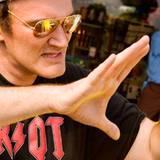 Quentin Tarantino bei der Arbeit