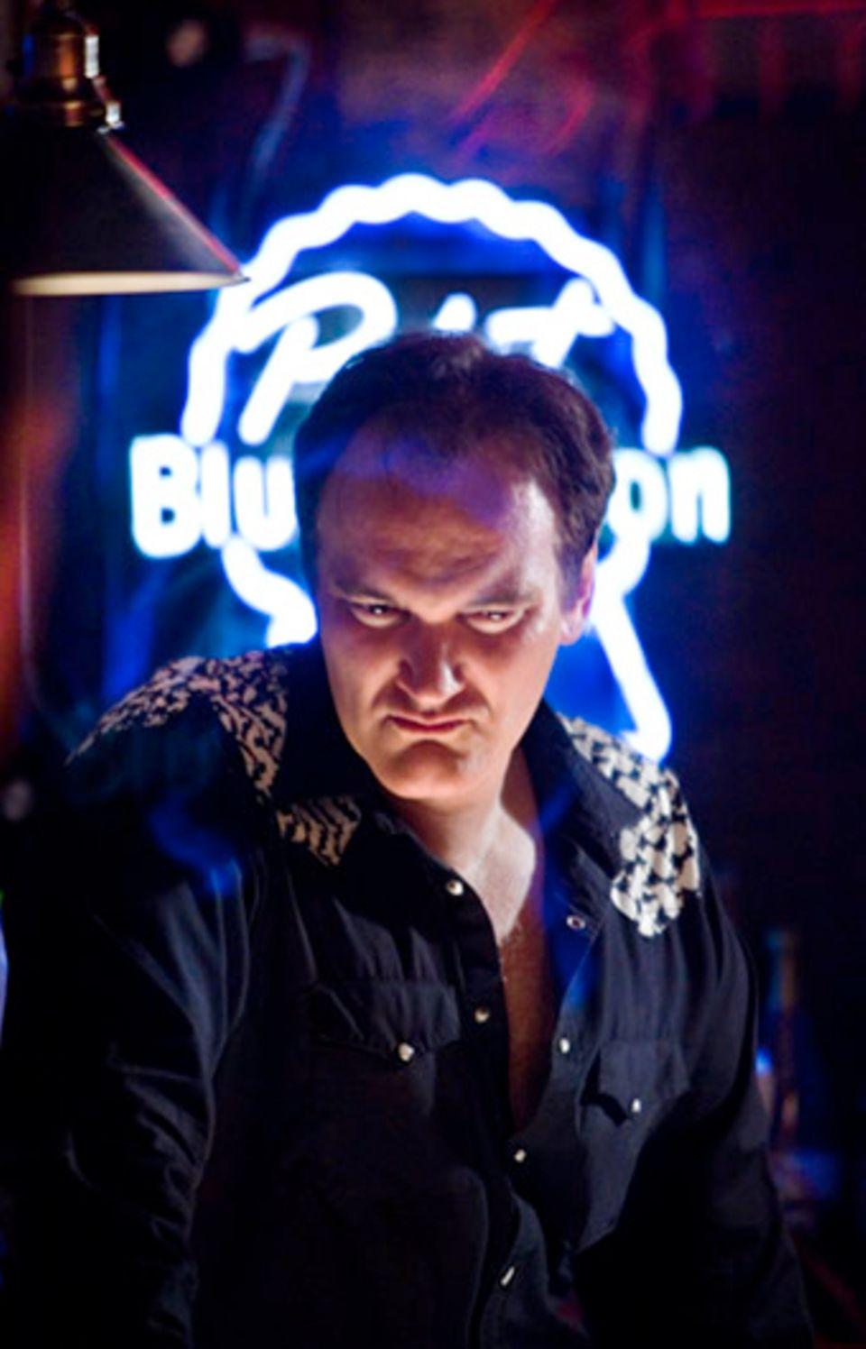 Quentin Tarantino in seinem Element