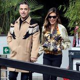 10. März 2016: Robbie Williams und seine Frau Ayda Field strahlen über beide Ohren als sie ein TV-Studio in London verlassen.